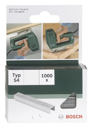 Bosch 2609255841 Set de 1000 agrafes à fil plat Type 54 Largeur 12,9 mm Epaisseur 1,25 mm Longueur 10 mm