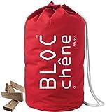 BLOC-chêne - Jeu de Construction Premium - Sac Marin Rouge de 420 Planchettes en Chêne Massif Dont 70 surcyclées - Livraison Gratuite