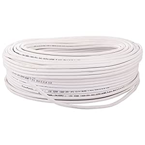 Sharp Plus 3+1 CCTV Wire (High Quality) (White, 100 Yards)