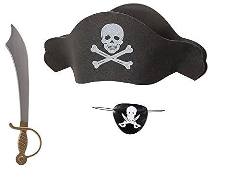 Costumes Accessoires En Ligne - Kit de déguisement pirate (KV-67), ensemble de
