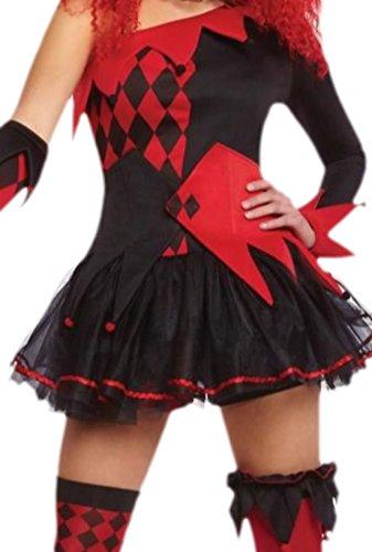 Imagen de erdbeerloft–mujer joker disfraz, disfraz de mujer, carnaval,, halloween, 36–42, color rojo rojo 40 alternativa