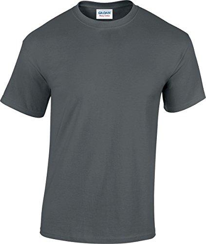 GILDAN -T-shirt  Uomo-Donna Charcoal