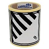 Gefahrgutaufkleber - Klasse 9 - Verschiedene gefährliche Stoffe und Gegenstände (9) - 100 x 100 mm - 100 Gefahrgutetiketten, Papier, weiß/schwarz, permanent haftend