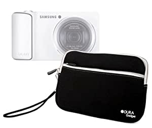 DURAGADGET Housse étui luxe en néoprène noir résistant à l'eau + poignée bonus pour appareil photo numérique compact Samsung Galaxy Camera 3G et Wi-Fi, Samsung Smart Camera WB150F, NX1000, NX210 et NX20 ? Garantie 2 ans