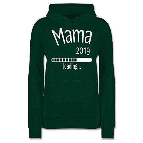 Schwangerschaft - Mama 2019 Loading - M - Dunkelgrün - JH001F - Damen Hoodie