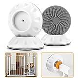 4pc Sicherheits Wandschutz für Treppenschutzgitter Nakeey Wand Schutz Baby Sicherheits Wandschutz Pads Kind Hund für Tür Baby-Druck für Schützt Treppen,Türgitter und Wände