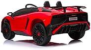 Lamborghini Aventador SV - Licensed Ride On Electric Kids Car, Red