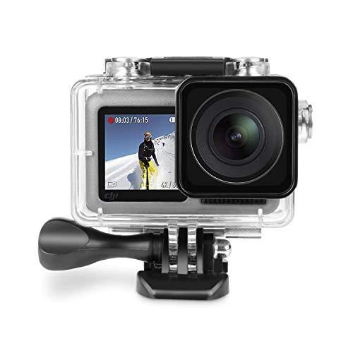 Deyard wasserdichte Schutz Gehäuse für DJI OSMO Action Camera, Sportkamera-Schutzgehäuse für DJI Osmo, wasserdicht bis 60 m (197 ft) mit Schnellwechselhalterung und Rändelschraube