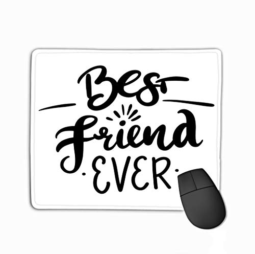 Mouse pad Best Friend Ever Hand Drawn Vector Lettering Isolated White Background steelseriesKeyboard