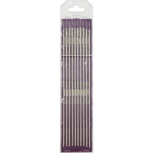 GYS 10electrodos de tungsteno–Diámetro 1,6mm–lila para AC/DC–Acero/acero inoxidable/Aluminio, 1pieza, 046733