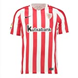 Nike 808519 Camiseta de Fútbol Oficial Athletic Club Bilbao, 1ª Equipación 2016-2017, Niños, (University Red/White/Black), L