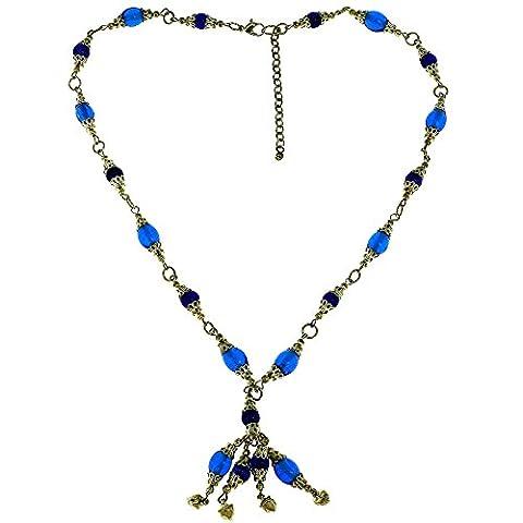 Bleu et or Designer Fashion Collier Bijoux indiens