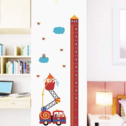 baiyinlongshop Wandaufkleber Tierrettung Auto Rettungsmaßnahme S Für Kinderzimmer Wachstum Chart Hause Tür Decor PVC Wandbild Kunst Decals - Wachstum Chart Tür