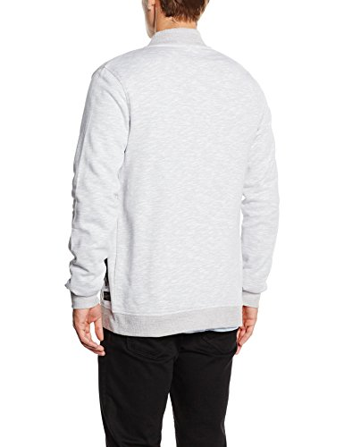 JACK & JONES Herren Jacke Jorlock Sweat Baseball Neck Grau (Light Grey Melange Fit:T&S)