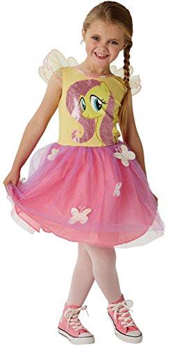 Fluttershy - My Little Pony - Kostüm für Kinder - Groß - 128cm - Alter 7-8 (Fluttershy Kostüm Für Kinder)