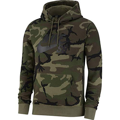 Nike SB Icon Sweatshirt Camo Men Camoflage L (Medium) Camo-fleece-pullover