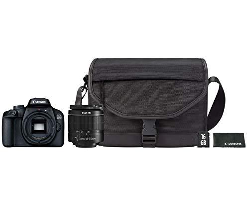 Canon Kit EOS 4000D CÁMARA Reflex 18MP Full HD DIGIC4+