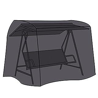 LEX Schutzhülle für Gartenschaukel, 210 x 150 x 130 cm, Kastenform, Drei-Sitzig, 2 Reißverschlüsse, Tragetasche