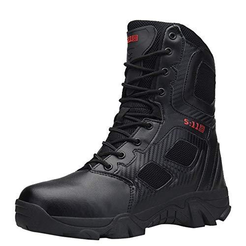 Zapatillas de Hombre de BaZhaHei, Botas Militares y cómodas Botas Zapatos de Hombre Antideslizantes Resistentes al Desgaste Que amortiguan el Impacto Botas de montaña Combate de Alpinismo Zapatillas