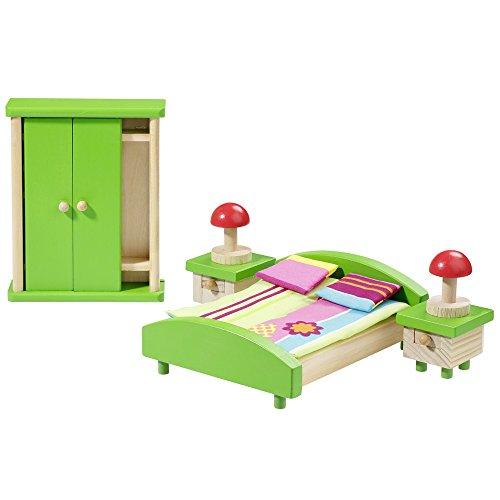 howa Puppenmöbel Schlafzimmer aus Holz 7303