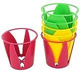 Set de 6 supports porte gobelet timbale multicolore