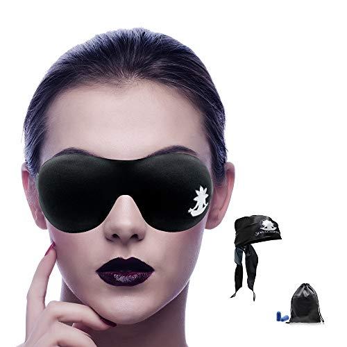 7 Chakras 3D-Schlafmaske - Schlafmaske für Frauen und Herren - Augenmaske für Reisen, Lichtblockierende Maske - bequem und leicht mit Ohrstöpseln und Seidenbeutel