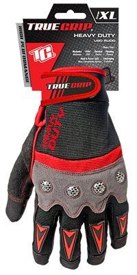 True Grip, Hochleistungs-Arbeitshandschuhe mit Touchscreen-Finger, Größe XL, in Schwarz/Rot, 9894–23