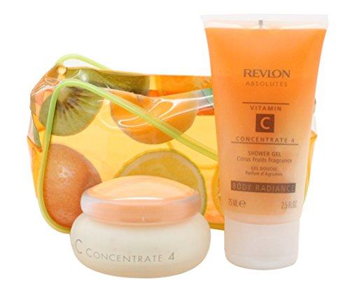 Revlon Absolutes Vitamin C Concentrate Confezione Regalo 50ml Idratante Giorno & Notte + 75ml Gel Do