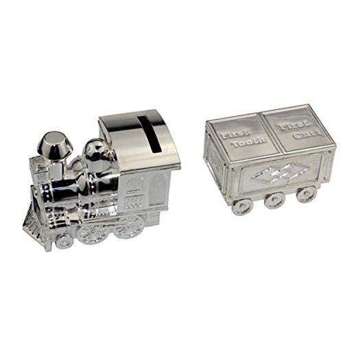 Tirelire, Fgf Petite locomotive Tirelire, Argent Rks-cb011