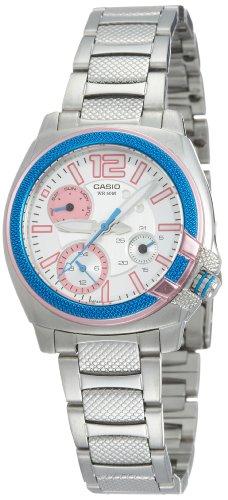Casio ltp1320d2a–Orologio da donna metallico blu/rosa