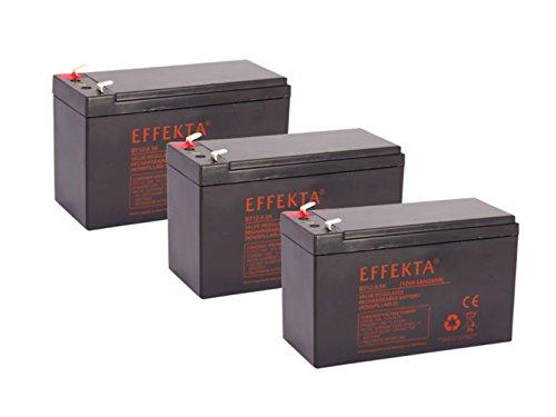Batería compatible para bicicletas eléctricas draisin Scooter Crosser Tandem 36V, 3x 12V 9,5Ah