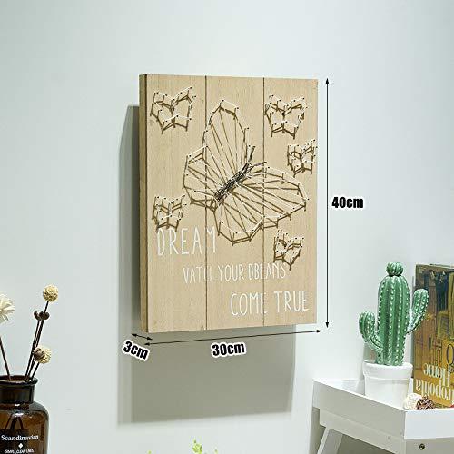 SMAQZ Decoración De Pared Pintura De Tapices De Pared Hogar Creativo Decoración De La Pared con Luces Colgantes Pintura - G Mariposa