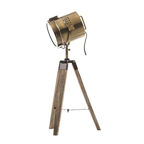 lampe-projecteur-design-vintage-et-retro-en-metal-style-cuivre-et-trepied-en-bois