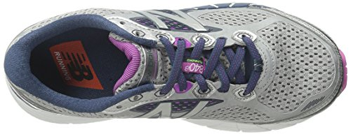 New Balance Women's W840V3 Running Shoe Silver/Navy