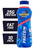 For Goodness Shakes High Protein Strawberry Shake, 475ml - Pack of 10