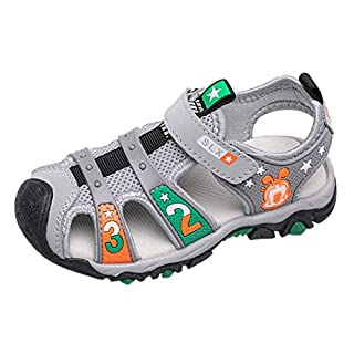 Igemy Non-Slip Beach Sandals Kids Baby Slippers Outdoor Sports Sneakers Summer Sandals for Kids Trekking Hiking Open Toe Athletic Shoes Gray