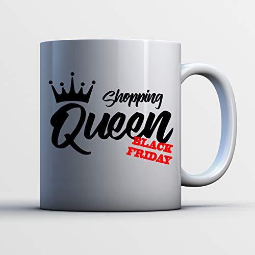 Mug Geschenk Family White Cup 11oz Friend Black Shopping Birthday Gift For Tasse 330ml Queen Friday Ceramic gybf76