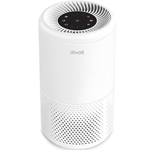 levoit purificatore d'aria casa hepa,360° filtrazione aria,risparmia consumo elettricità,100% senza ozone&anione,luce notturna arancia&timer,modalità sonno 25 db per fumi,animali domestici,polveri