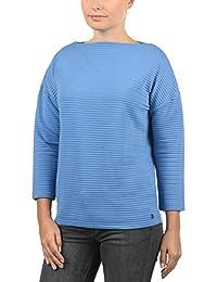 c0605aaec46fa9 DESIRES Jona Damen Sweatshirt Pullover Sweater Mit U-Boot-Ausschnitt Und 7/8