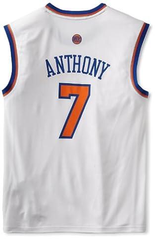 NBA New York Knicks White Replica Jersey Carmelo Anthony #7, XX-Large