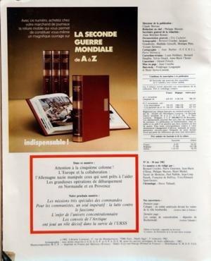 SECONDE GUERRE MONDIALE LAROUSSE (LA) [No 16] du 10/05/1982 - LA SECONDE GUERRE MONDIALE ATTENTION A LA 5EME COLONNE - L'EUROPE ET LA COLLABORATION - L'ALLEMAGNE NAZIE MANIPULE CEUX QUI SONT PRETS A L'AIDER - LES GRANDIOSES OPERATIONS DE DEBARQUEMENT EN NORMANDIE ET EN PROVENCE par Collectif