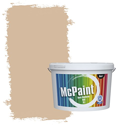 McPaint Bunte Wandfarbe Beige - 5 Liter - Weitere Braune und Dunkle Farbtöne Erhältlich - Weitere Größen Verfügbar - Dunkle Braune Farbe Finish