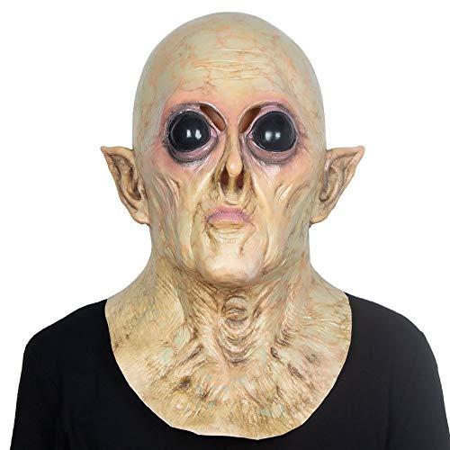Figur Lustige Kostüm Tv - YEARYOWN Alien UFO Headset Halloween Latex Maske Bar Spukhaus Film und TV Masquerade Requisiten Horror Party Maske