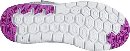 Nike Mädchen Flex Experience 4 (Psv) Sneaker Gris (Gris (Wlf Gry / Hypr Trq-Hypr Vlt-Whit))