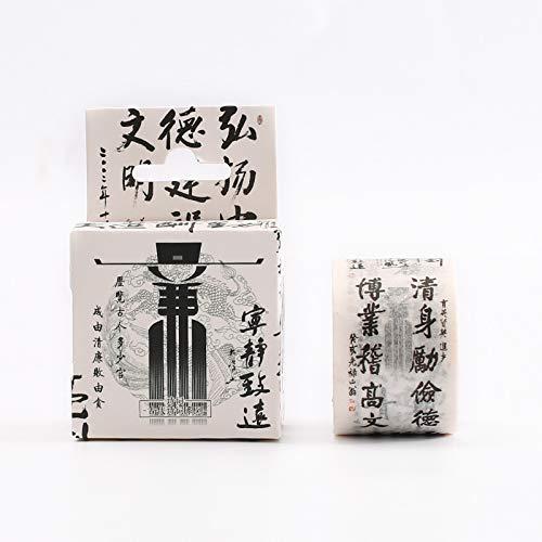 LDSEHUN washi tape Autocollants de décoration en couleur Ruban de papier antique toute la main de déchet Compte bricolage aucun autocollant de dessin animé de trace, Accomplir sth.durable en menant une vie tranquill