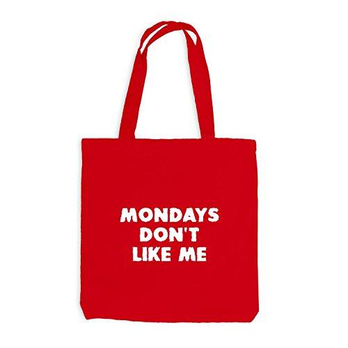 Jutebeutel - Mondays Don't Like Me - Scary - Work Job Rot
