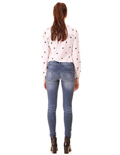 Elastic jeans folded bottom Blue