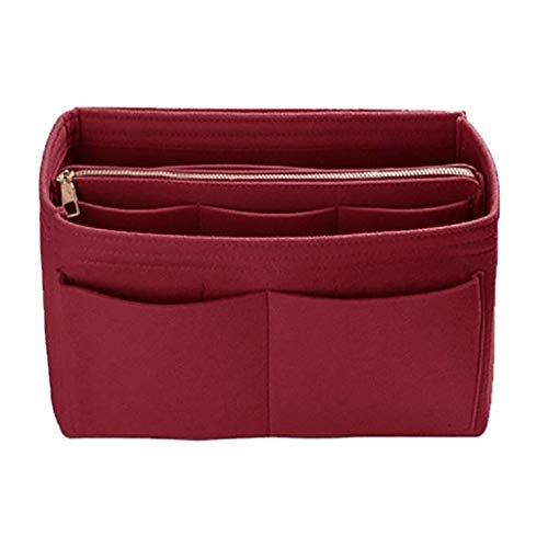Zolimx Fühlte Mich einfügen Tasche Reißverschluss Multi Tasche Handtasche Organizer Inhaber Make up Reisen