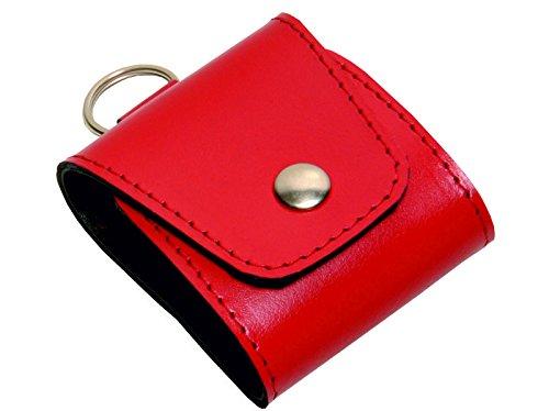 Taschenapotheke Notfalletui 4 Schlaufen/Gläser Leder rot mit Braungläsern (UV-Schutz) und Etiketten