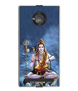 PrintVisa Shiv Mahadeva The Warrior High Gloss Designer Back Case Cover for YU Yuphoria :: YU Yuphoria YU5010